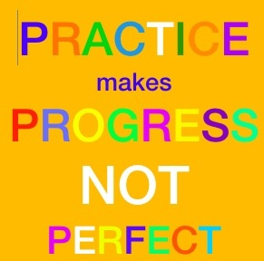 Practice makes progress not perfect. VIPKID Quote
