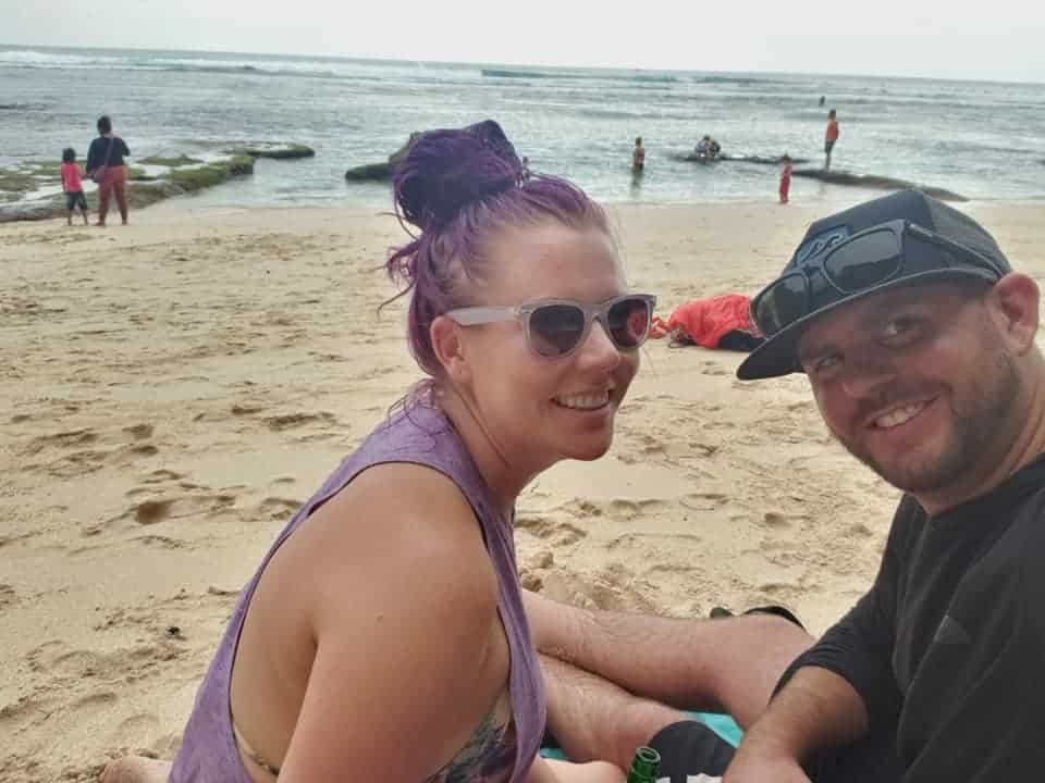 Enjoying Batu Bolong Beach, Bali, Indonesia
