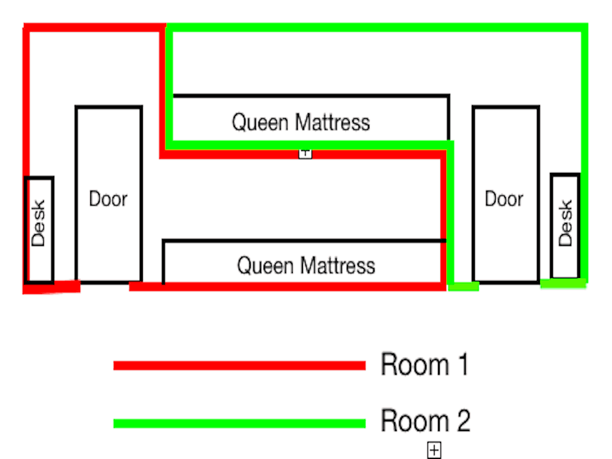 Queen Capsule Room Diagram