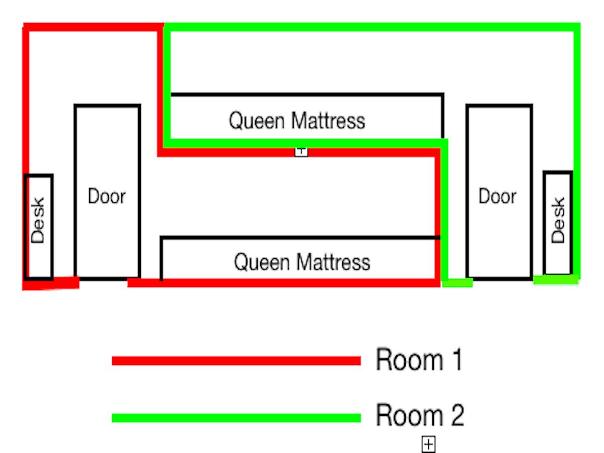 Queen Capsule Room Diagram