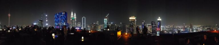 Skyline of Kuala Lumpur from Hell Lounge Bar