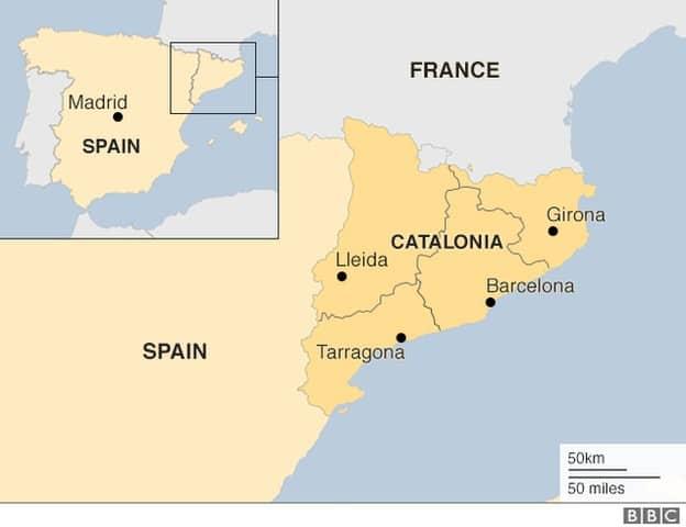 Catalonia Map BBC