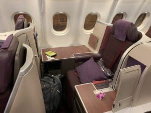 Thai Airways A330 Business Class Throne seat.